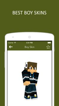 3D Boy Skins for Minecraft PE poster