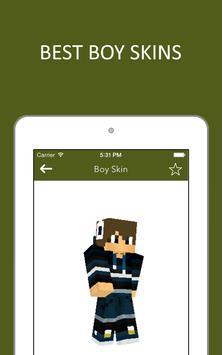 3D Boy Skins for Minecraft PE screenshot 10