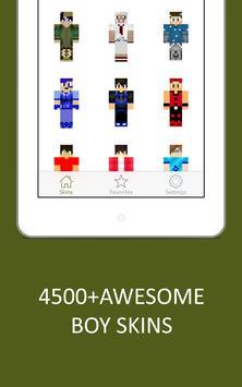 3D Boy Skins for Minecraft PE screenshot 11