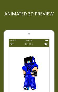 3D Boy Skins for Minecraft PE screenshot 12