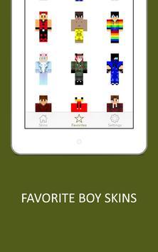3D Boy Skins for Minecraft PE screenshot 13