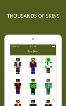 3D Boy Skins for Minecraft PE screenshot 14