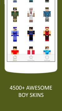 3D Boy Skins for Minecraft PE screenshot 1