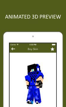 3D Boy Skins for Minecraft PE screenshot 7