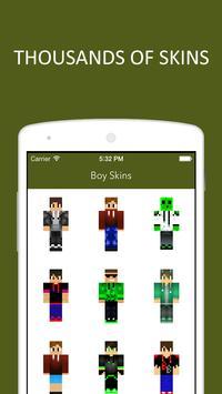 3D Boy Skins for Minecraft PE screenshot 4