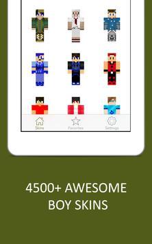 3D Boy Skins for Minecraft PE screenshot 6