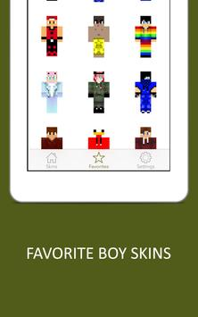 3D Boy Skins for Minecraft PE screenshot 8