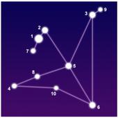 Sky Map. Astronomy icon