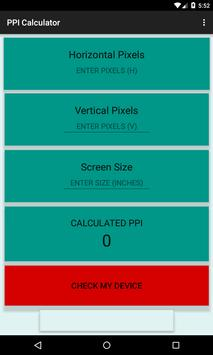 PPI Calculator poster