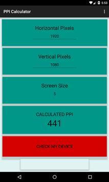 PPI Calculator screenshot 2