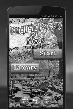 English Poetry On Photo screenshot 2