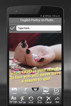 English Poetry On Photo screenshot 3