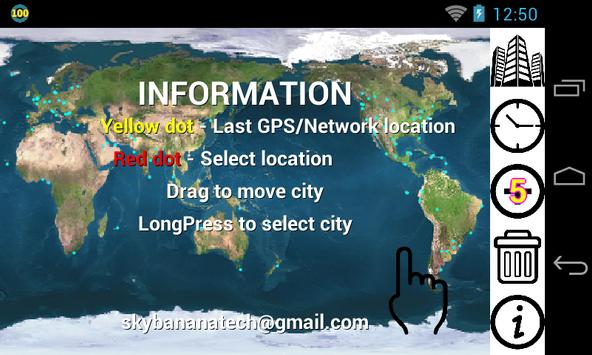 GPS WORLD CLOCK 세계시간 apk screenshot