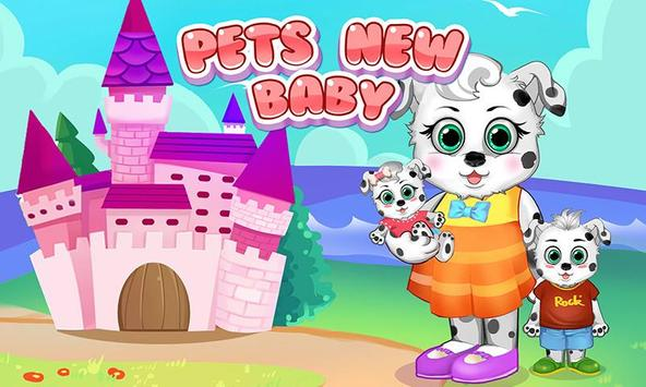 Pet Baby Care: New Baby Puppy poster