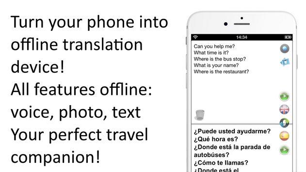 Traductor sin conexión: traducir inglés-español Poster