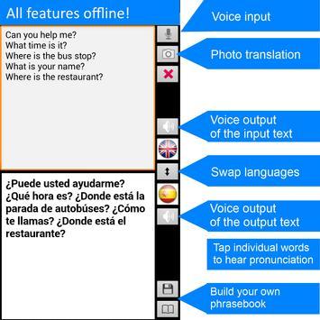 Traductor sin conexión: traducir inglés-español captura de pantalla 1