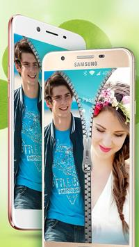 Couple Photo Zipper Lock Screen apk screenshot