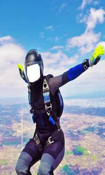 Skydiver Suit Photo Editor: Skydiving Photo Maker poster