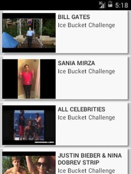 Ice Bucket Challenge Videos screenshot 1
