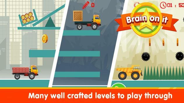 Brain It On - Wood Trucks Physics screenshot 1