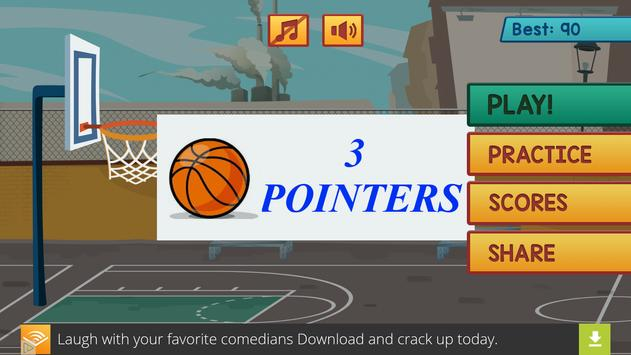 3 Pointers Basketball poster
