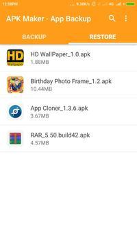 Apk Maker - App Backup screenshot 3