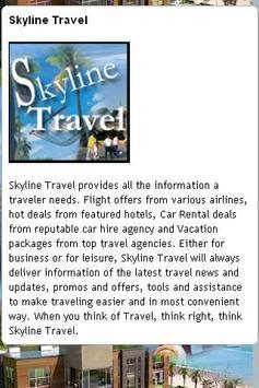 Skyline Travel App screenshot 1
