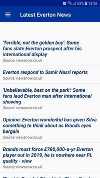Latest Everton News screenshot 1