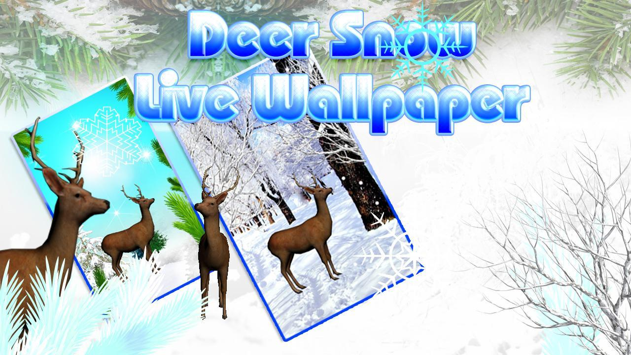 Deer Snow Live Wallpaper For Android Apk Download