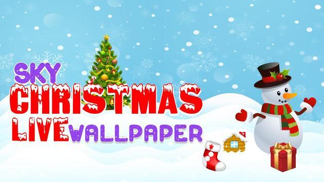 Sky Christmas Live Wallpaper poster