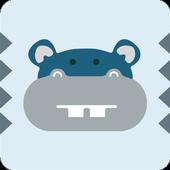 Hippo in the box icon