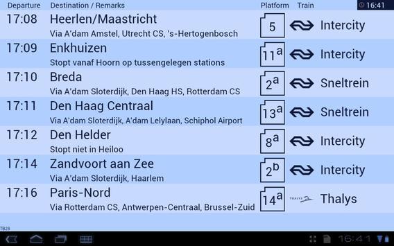 Treinbord screenshot 1