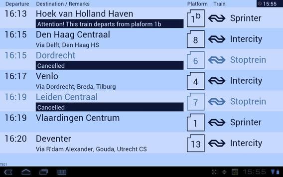 Treinbord screenshot 3