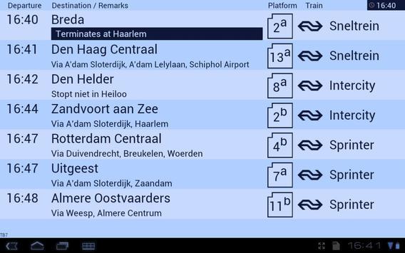 Treinbord screenshot 4