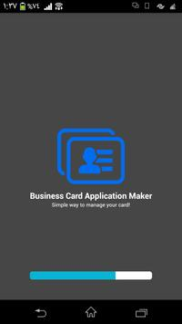 Business Card Application poster