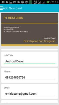 Business Card Application apk screenshot