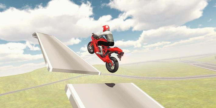 Sport Motorcycle Driver 3D poster