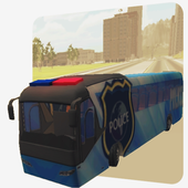 Police Bus Driver 2017 3D icon