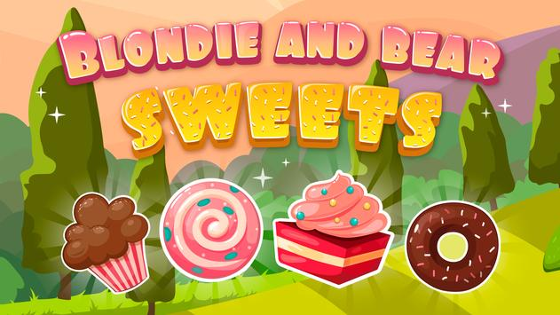 Blondie and Bear sweets poster
