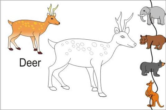 Kids Trace Wild Animals Learn apk screenshot