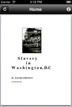 Slavery in Washington DC poster