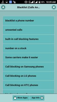 Blacklist (Calls And Number) poster