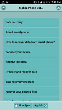 Mobile Phone Data Recovery poster