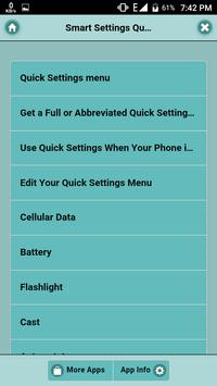 Smartphone Settings Quick tips poster