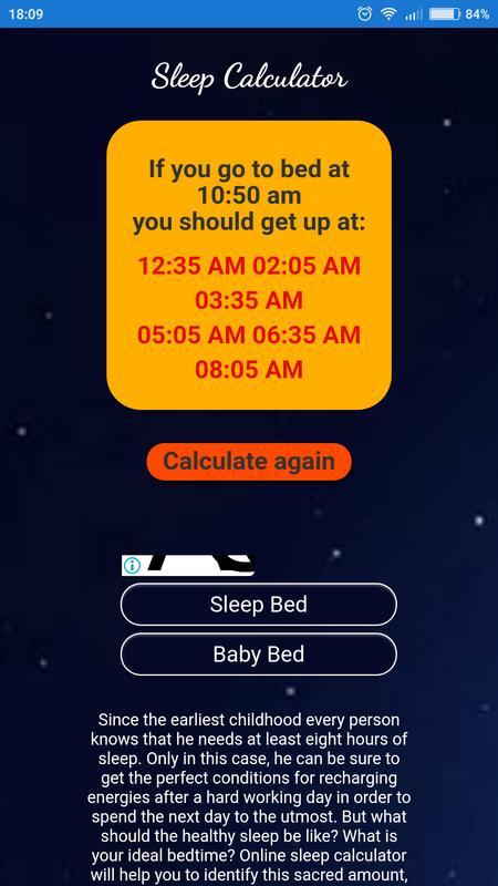 Sleep calculator hibr.