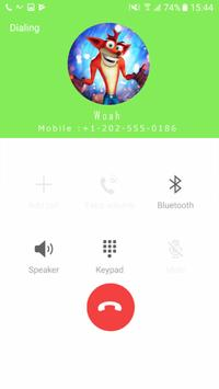 Fake Call From Woah apk screenshot