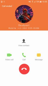Fake Dead call from Pool apk screenshot