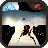 Alien Insect Shooter on Moon icon