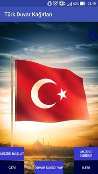 """Poster Türk """"Duvar Kağıtları Ve Marş"""""""