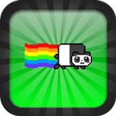 Rainbowy Panda icon